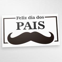 Adesivo Vitrine Dia dos Pais 03 - Miho Studio Brasil