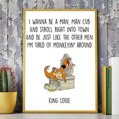 Jungle Book Print Disney Print Mowgli Printable by DigitalSpot