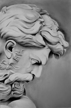 A2 #poseidon #art #pencil #sculpture #blackandwhite
