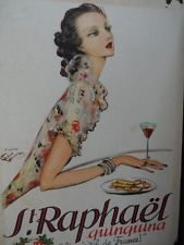 "Vintage French ""St Raphael"" Quinquina Advertising Menu cover"