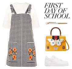 """""""First Day of school 📚"""" by anduu19 on Polyvore featuring Puma, Topshop, NIKE and Gucci"""