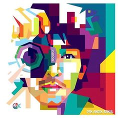 pak andik bakul, his name on facebook, me my self just refaceting and recoloring of his creation, . . . #wpap #artdigital #illustration #opparudy #coreldraw #design #indonesia #warnawarni #popart #colorful #streetart #latepost #vectorart #bestvector #ngalamuncurve