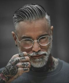 Mens Hairstyles With Beard, Cool Hairstyles For Men, Hair And Beard Styles, Short Hair Styles, Men's Hairstyles, Hipster Haircuts For Men, Cool Mens Haircuts, Men's Haircuts, Grey Hair Men