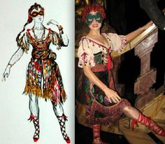 "Phantom of the Opera, ""Gypsy Girl"" Masquerade costume, (Maria Bjornson)"