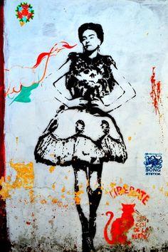 Street Art in Mexico. Streets of Chiapas.  Arte en las calles de Mexico. Calles de Chiapas.