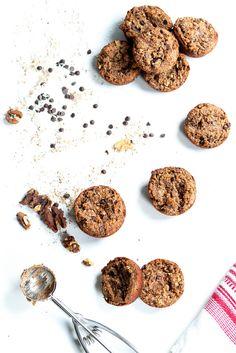 Chocolate Chip Coconut Muffins // Almond Flour   Walnuts - Heather Poire