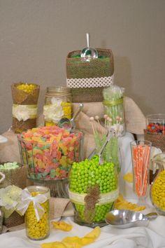 Candy Dessert Bar at Wedding | Wedding candy bar. Dessert buffet. | Invitations/Party Ideas