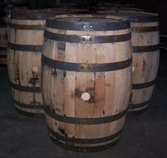 Used Decorative Whiskey Barrel with FREE SHIPPING 48 States #AuntMollysBarrels