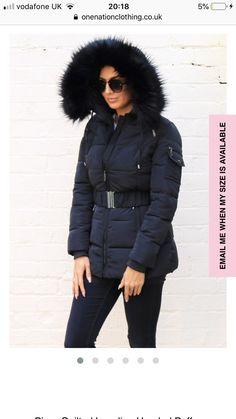 Puffer Coat With Fur, Winter Jackets, Coats, Outfits, Clothes, Fashion, Winter Coats, Moda, Wraps