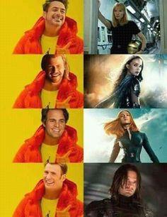 Vingadores e seus amores