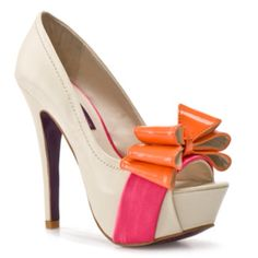 DSW - With a big platform like that, these look a little hard to walk in, but imagine the beauty?