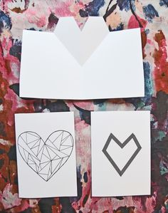 DIY: 3 easy Valentines day cards // A whole Lotte love