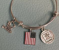 I Love My Soldier: Siver Tone Bracelet Inspired by Alex & Ani, US Army, American Flag, Patriotic, Army Mom, Army Wife  -  Fast Shipping by Arrimage on Etsy https://www.etsy.com/listing/234568818/i-love-my-soldier-siver-tone-bracelet