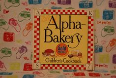 Gold Medal Children's Cookbook AlphaBakery by mandtsimplyvintage, $10.00