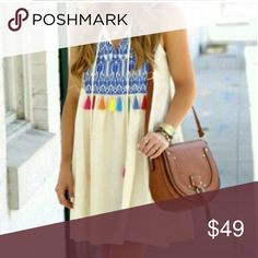 Adorable Tassel dress pre-ordee On its way!!! Let me know you want on in comments :) and I will save one for each of you. Dresses Midi