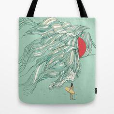 Ocean Summer Tote Bag by Huebucket - $22.00