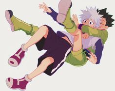 Tags: Fanart, Hunter x Hunter, Killua Zoldyck, Gon Freaks, Skullcaps Hunter X Hunter, Hunter Anime, Hisoka, Gon Killua, Hug From Behind, Pikachu, Anime Ships, Jojo's Bizarre Adventure, Vocaloid