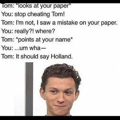 Haha wow #tom #holland #tomhollandfans #tomholland #tomhollandedits #spiderman #spidermanhomecoming #spider #man #avengers #avengersinfinitywar #infinitywar #spidermanfarfromhome #amazing #superhero #robertdowneyjr #thor #hulk #captainamerica #ironman #blackpanther #blackwidow #l4l