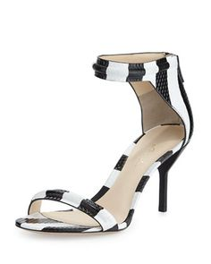 Martini Striped Mid-Heel Sandal, Black/White by 3.1 Phillip Lim at Bergdorf Goodman.