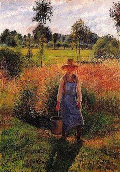 The Gardener, Afternoon Sun - Camille Pissarro 1899