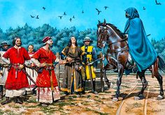 """The Challenge of Bordeaux - Peter of Aragon comes to the dueling field incognito to avoid capture by the French"""
