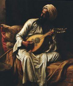 Arab Musician by Ludwig Deutsch