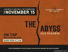 Deschutes - The Abyss 2012 Coming 11/15