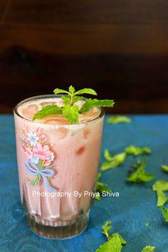 Watermelon Mint Sweet Lassi Lassi Recipes, Watermelon Mint, Yogurt Smoothies, Flower Food, Fun Drinks, Beverages, Summer Cocktails, Kitchenette, Healthy Dessert Recipes
