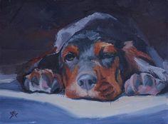 "Daily Paintworks - ""Gus"" - Original Fine Art for Sale - © SheilaMarie Littlehorn"
