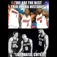 Best trio in NBA history. Been watching these guys since before I knew anything about basketball