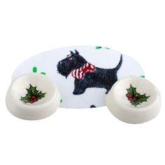 Miniature 3-Pc. Christmas Doggie Dinner Set