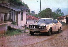 H.Kallstrom (Datsun 180 J) vainqueur du rallye de l'Acropole 1976 - L'Automobile juillet 1976.