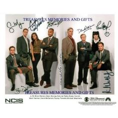 NCIS FULL NEW CAST SIGNED AUTOGRAPHED 8x10 RP PHOTO BY ALL MARK HARMON