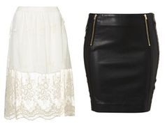 """Battle of the skirts - White and Lace or Black """"Leather"""" ... ♥♥♥"""