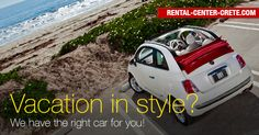 Vacation in Style? We have the right ‪#‎car‬ for you! A sliding-soft-top Cabrio car with performance and attitude! Book now the ‪#‎Fiat‬ #500c at Rental Center Crete and let the sunshine in. http://www.rental-center-crete.com/cars/group-l/fiat-500cc.html