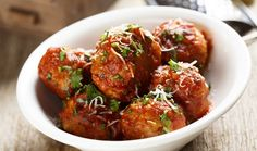 There's nothing better than coming home to the smell of dinner that's been slowly cooking all day. Come home to these slow cooker turkey meatballs tonight. Crock Pot Recipes, Slow Cooker Recipes, Cooking Recipes, Healthy Recipes, Slow Cooker Turkey Meatballs, Keto Meatballs, Parmesan Meatballs, Italian Meatballs, Buffalo Meatballs