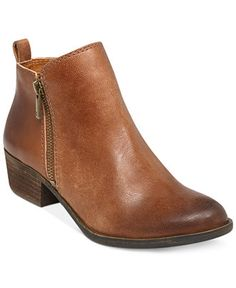 Lucky Brand Women's Basel Booties - Booties - Shoes - Macy's in Wheat