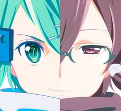 Both versions of Sinon Asada. The embodiment of true strength, no matter her visage.