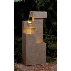 Sandstone Cascade Tiers Lighted Fountain   Overstock.com Shopping - The Best Deals on Outdoor Fountains