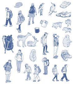 歩こう!関西のハイキング ぴあより発行のムックにイラストで参加いたしました。