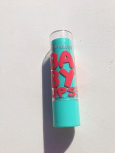 """Maybelline Baby Lips """"Twinkle"""" :) spf I love this stuff... must pack for the beach"""