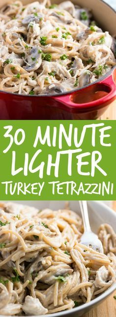 Make this 30-minute turkey tetrazzini by blogger Savory Nothings for a cozy date night in