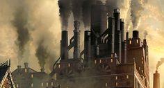 Steampunk city (detail) by Руслан Гребешков