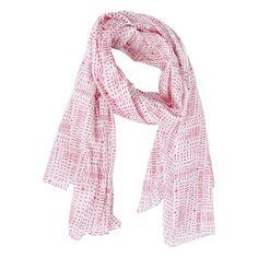 Schal rose-grey Star rosa mit grauen Sternen von Krasilnikoff