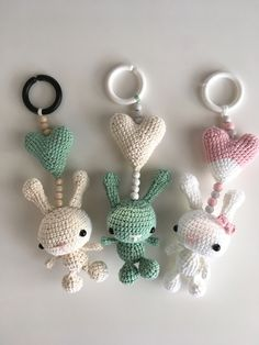 virkat i lager just nu Crochet Toys, Crochet Baby, Knit Crochet, Crochet Keychain, Crochet Earrings, Baby Barn, Cute Stuffed Animals, Baby Sewing, Mobiles