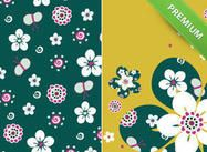 Emeraldfloralthumb Wallpapers, Shapes, Texture, Orange, Floral, Pattern, Surface Finish, Flowers, Patterns