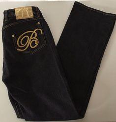 Apple Bottom Women's Bootcut Darkwash Embroidered Pockets Jeans Sz 11/12 EUC-154 #AppleBottoms #BootCut