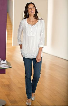 Misses > embroidered artisan tunic at J.Jill