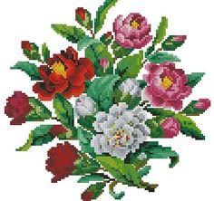 Small roses bunch vintage cross stitch pattern for por Smilylana
