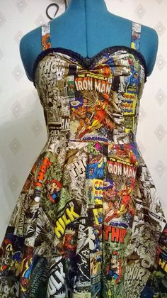Straight Marvel Comic Book Dress, so cool :3